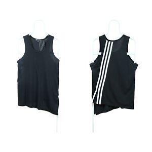 Mens Y-3 Adidas Yohji Yamamoto Asymmetric Top T-Shirt Sleeveless Black Size M