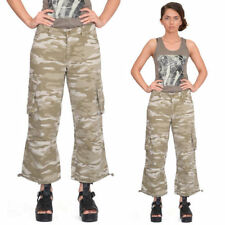 Camouflage Cotton Mid Rise Shorts for Women