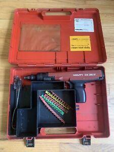 Hilti DX36M Powder Actuated Tool W/ Case & Extras Liechtenstein MAINTAINED!