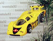 AIR-FORCE PORSCHE 917 RACE CAR RACING YELLOW CHRISTMAS ORNAMENT XMAS