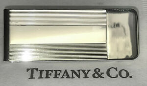 Tiffany & Co Vintage Authentic Sterling Silver Textured Money Clip  pro polished