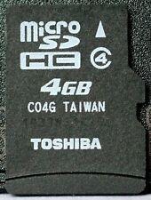Toshiba 4GB class 4 micro SD/SDHC card.