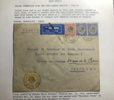 1932 Bukoba Tanganyika Missionary Airmail Cover To Paris France Imperial Airways