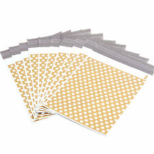 "50 x Gold Polka Dots 6x9"" Postage/Poly/Postal Mailing Bags/Sacks/Envelopes"