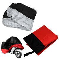 Funda Protector de Polyester Cubierta para Moto XXL Negro y Plateado B3N9