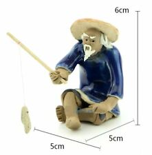 FD3941 Fishing Man Ceramic Fish Tank Decoration Landscape Aquarium Ornament