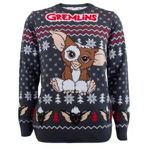 Gremlins Gizmo Sitting Knitted Xmas Jumper Size Large