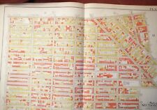 Brooklyn, NY atlas map - Original - Bromley 1908 - plate 18 - linen Bed Stuy-Bus