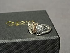 Welsh Clogau Sterling Silver & Rose Gold Butterfly Ring Size M RRP £139
