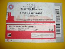 14/15 Ticket Bayern München  -  Dortmund Eintrittskarte Sammler BVB Pokal