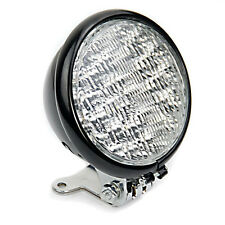 12V 30 LED Round Headlight Universal Motorcycle High Low Beam Black Light Lamp