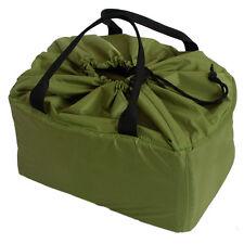 Green DSLR Partition Padded Camera Bag Insert Case with Handle 1 DSLR + 5 Lens