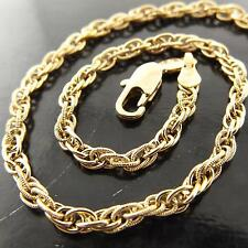 FSA162 GENUINEREAL 18K YELLOW G/F GOLD ANTIQUE SNAKE LINK PENDANT NECKLACE CHAIN