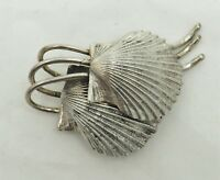 VIntage Danecraft sterling silver Art Deco ocean sea shell abstract pin brooch