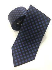 Paul Smith Cravate Damson avec Bleu Spots100% Tissé en Soie Fait en Italie