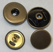 3 Chunk Chunks Druckknopf Click Buttons altmessing für Armband Gürtel 6mm Pin