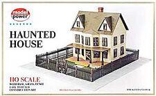 NEW Model Power Haunted House Kit - Grassmat/Fence HO 486