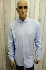HUGO BOSS Taglia XL Camicia Uomo Cotone Shirt Chemise Casual Manica Lunga