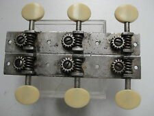 Vintage Antique Martin Silverplated Slotted Neck Guitar Tuners for Project