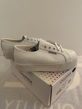 Superga Womens Platform Sneakers White Size 7.5 NEW