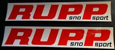 """(2) N.O.S. Vintage Rupp Snowmobile Sno Sport Bumper Decals About 7 1/2"""" Long"""