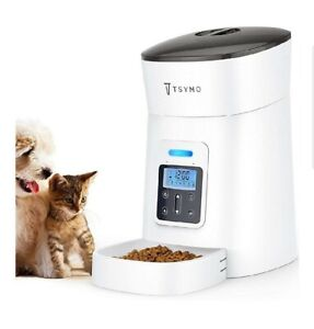 TSYMO Automatic Cat Feeder - 1-6 Meals Auto Dog Food Dispenser with Anti-Clog...