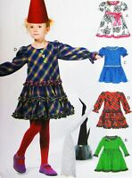 Child Dress w/ Tiered Skirt Tie Ends McCalls M6638 Pattern CDD 2-5 NEW UNCUT