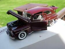 Danbury Mint 1/24th Scale 1947 Ford Deluxe Tudor-PAPERS & BOX-VERY NICE-