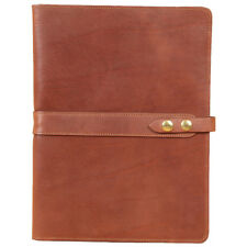 Leather Business Portfolio Notebook Folio Writing Pad Brown No. 18 USA Made