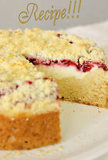 "☆Strawberry Cream Cheese Coffee Cake ""RECIPE""!☆Tastes like Starbucks!☆"