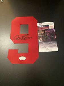 Bulls DENNIS RODMAN Signed Autographed Basketball Jersey Number JSA COA