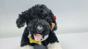 """Build A Bear Black White Puppy Dog 16"""" BAB Collar Kennel Pals Promise Pets"""