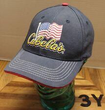 NWOT CABELA S AMERICAN FLAG PATRIOTIC HAT BLUE ADJUSTABLE EMBROIDERED 3Y ffbce083bc1