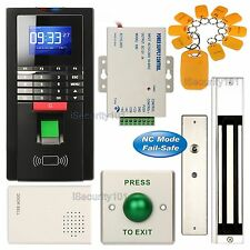 Fingerprint Entry RFID Access Control System Kit + 280KG Magnetic Door Lock