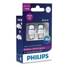 W5W Philips X-tremeVision LED Bombillas De Señal De Interior T10 12V 127998000KX2 8000K