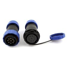 9 Pin Pair Waterproof Aviation Cable Connector Plug w Socket IP68 SP13-9
