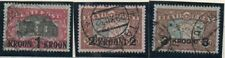 Estonia Sc 105-7 1930 Theatre & Map stamps overprinted  used