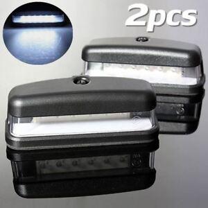 2x  LED Rear License Plate Tag Light Interior Step Lamp Truck Caravan   /  ~