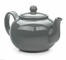 RSVP Stoneware Teapot 6 Cup 48 Ounce Gray Grey Stays Hot CHAI-GY