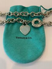 Tiffany and Co Heart Tag Chain Necklace with Toggle in 925 Sterling Silver