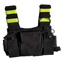 Fluorescent Radio Carry Case Chest Pocket Bag Holster for Two Way Radio