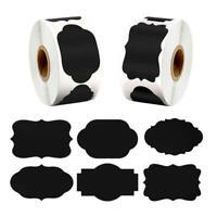 300pcs/roll Blank Chalkboard Labels Sticker for Kitchen Canning Mason Spice Jars
