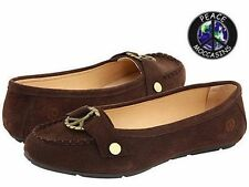 """Women's Peace Mocs """"Grace"""" Chocolate Suede Casual Moccasins 6M New PM447180"""