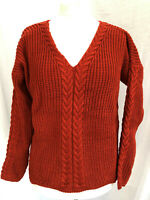 Ladies Winter Pullover Jumper V-Neck with Chunky Knitted Detail New Halle Brande