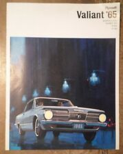 Plymouth Valiant Barracuda Signet ORIG UK 1965 Marketing sales brochure-V-100 V-200
