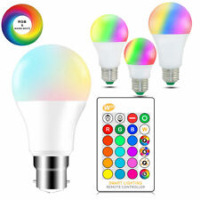 LED RGB Bombilla E27 B22 5W 10W 15W RGBW Lámpara + Ir Control Remoto Hl