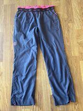 New listing Womens Koi Lite Scrub Pants Gray And Hot Pink Size L