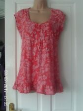 ORANGE  TOP BY NEW LOOK, SIZE 14