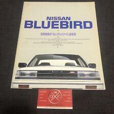 Vintage Nissan Bluebird Brochure JDM Rare V6 Turbo Maxima U11 83-87 84 85 86 SSS