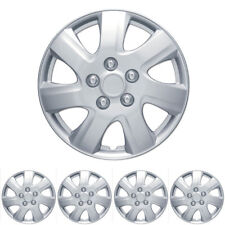 "4 PC Set 16"" Silver Hubcaps Wheel Cover OEM Replacement High Quality ABS"